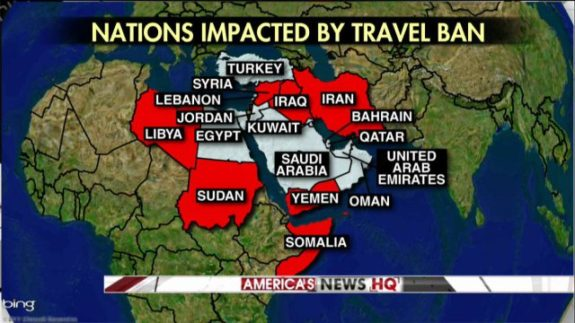 TERRORIST LINKS IN 7 NATIONS COVERED BY TRUMP TRAVEL BAN