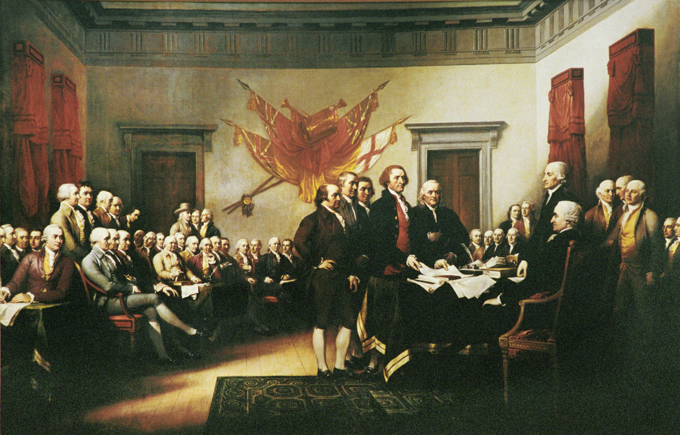 The Declaration of Independence acknowledged God