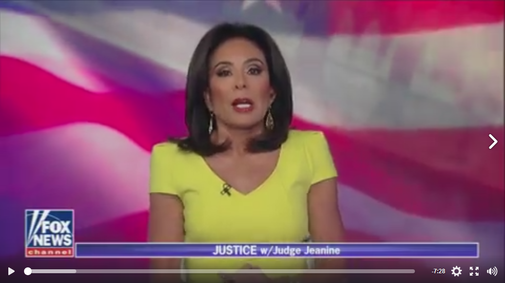 Judge Jeanne Pirro Reflects the Anger of Patriotic Americans