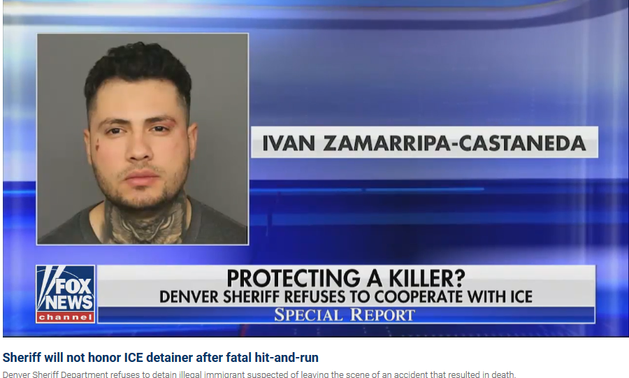 ICE seeks illegal immigrant in Colorado fatal hit-and-run who bonded out of jail