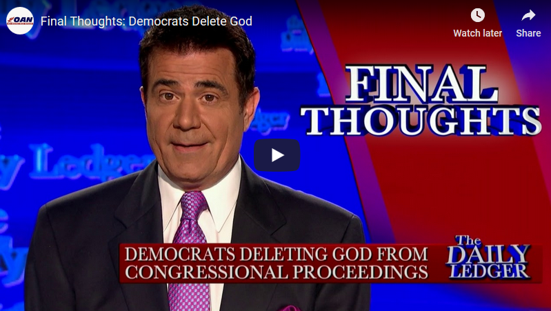 """Democrats in Congress are now removing God from witness swearing in. Their position seems to be testifying """"Under God"""" is no longer needed"""