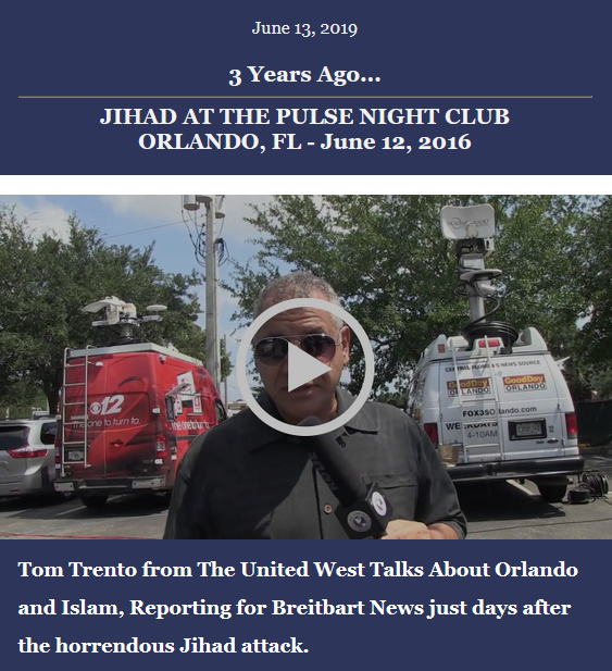 United West looks back 3 years ago to the Muslim Jihad attack on the Pulse night club in Orlando, Florida