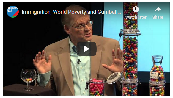 Roy Beck of Numbers USA explains Immigration, World Poverty and Gumballs